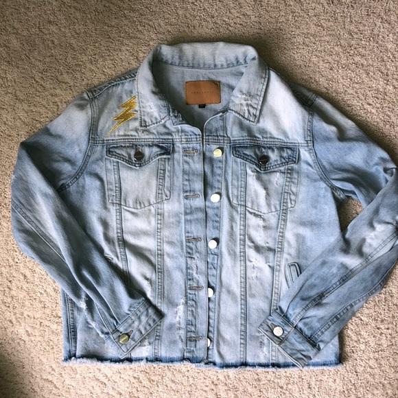Sanctuary Jackets & Blazers - Woman's Distressed Sanctuary Jean Jacket